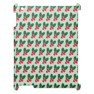 Christmas Red Berries Green Leaves Pattern Case For The iPad 2 3 4