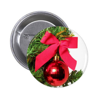 Christmas red bow and ornament buttons