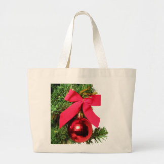 Christmas red bow and ornament bags