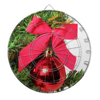 Christmas red bow and ornament dartboards