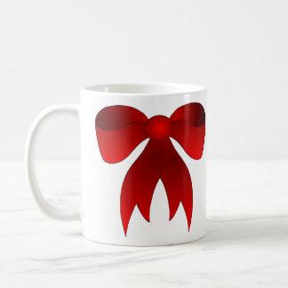 Christmas red bow coffee cup mugs
