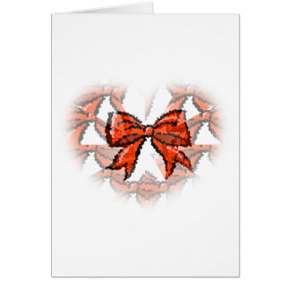 Christmas Red Bow illusionized  Christmas Card