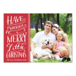 Christmas Red Calligraphy 1 Photo 13 Cm X 18 Cm Invitation Card