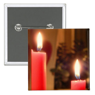 Christmas Red candles Button