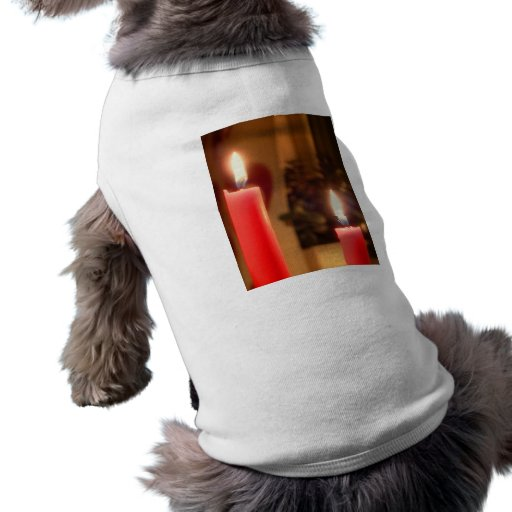 Christmas Red candles Doggie Tshirt