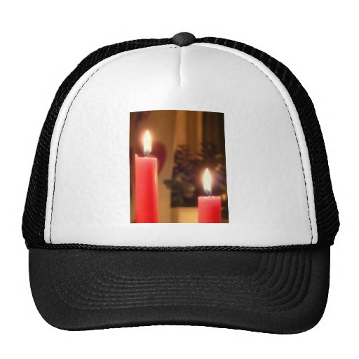 Christmas Red candles Trucker Hats