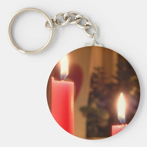 Christmas Red candles Keychains