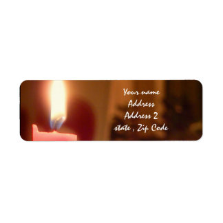 Christmas Red candles Return Address Label