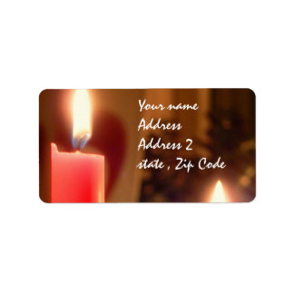 Christmas Red candles Address Label