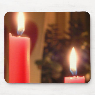 Christmas Red candles Mousepad