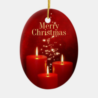 Christmas Red Candles ornament