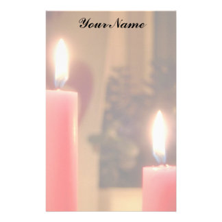 Christmas Red candles Stationery