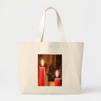 Christmas Red candles tote bag