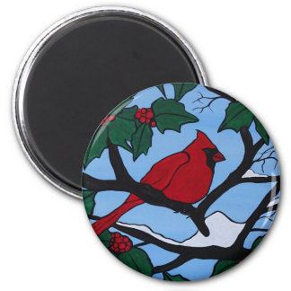 Christmas Red Cardinal Magnet