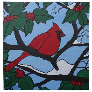 Christmas Red Cardinal Napkin