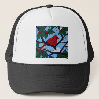 Christmas Red Cardinal Trucker Hat