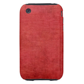 Christmas Red Chenille Fabric Texture Tough iPhone 3 Covers