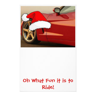 Christmas Red Corvette Stationery