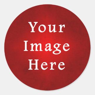 Christmas Red Crimson Parchment Gradient Template Sticker