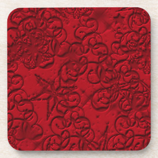 Christmas Red Design Coasters