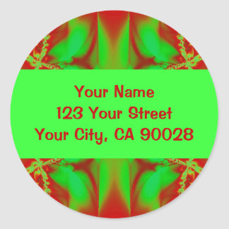 Christmas red green Address Labels Stickers