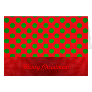 Christmas red green decorations polka dot card