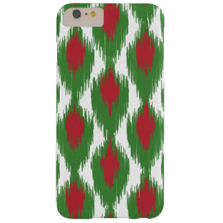 Christmas Red Green Tribal Ikat Diamond Pattern Barely There iPhone 6 Plus Case