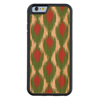 Christmas Red Green Tribal Ikat Diamond Pattern Cherry iPhone 6 Bumper Case