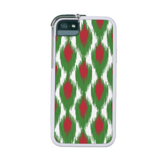 Christmas Red Green Tribal Ikat Diamond Pattern Cover For iPhone 5