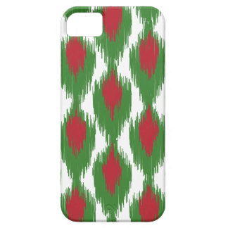 Christmas Red Green Tribal Ikat Diamond Pattern iPhone 5 Covers