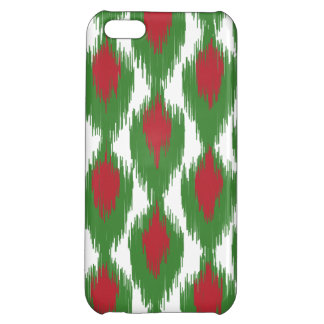 Christmas Red Green Tribal Ikat Diamond Pattern iPhone 5C Cover