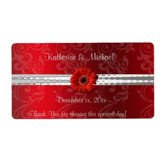 Christmas Red, Holiday/ Wedding Wine Label