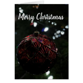 Christmas Red Ornament Card