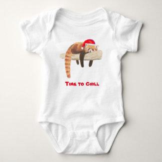Christmas Red Panda baby vest Baby Bodysuit