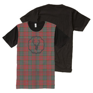 Christmas Red Plaid All-Over Print T-Shirt