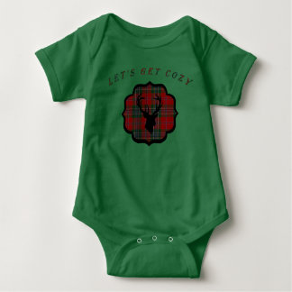 Christmas Red Plaid Baby Bodysuit