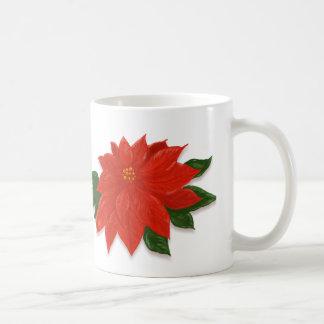 Christmas Red Poinsettia Coffee Mug
