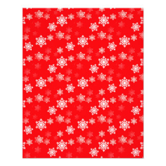 Christmas Red Snow Flurries Full Color Flyer