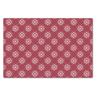 """Christmas Red Snowflakes Pattern 10"""" X 15"""" Tissue Paper"""