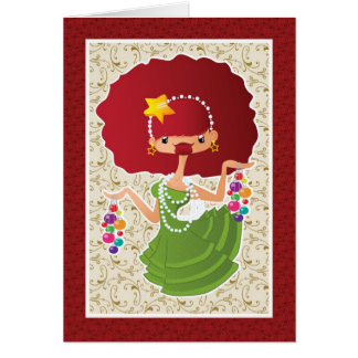 Christmas Redhead Card