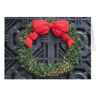 christmas reef on iron door card