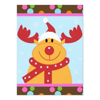 Christmas Reindeer 14 Cm X 19 Cm Invitation Card