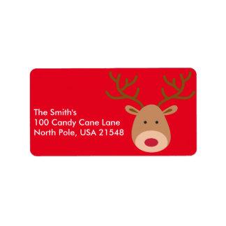 Christmas Reindeer Address Labels Personalise