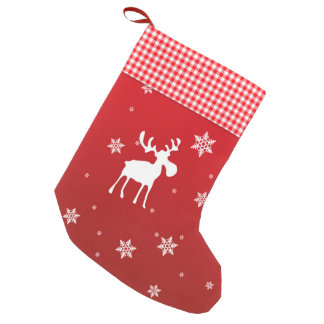 Christmas Reindeer and Snowflakes - Stocking