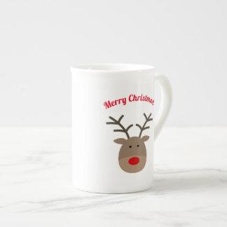 Christmas reindeer bone china specialty tea mug