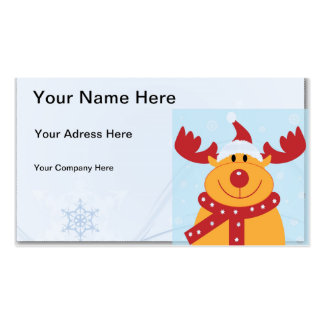Christmas Reindeer Pack Of Standard Business Cards