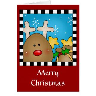 Christmas Reindeer card Greeting Card
