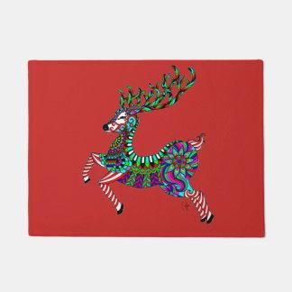 Christmas Reindeer Door Mat