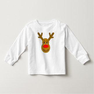 Christmas Reindeer Face T-shirt