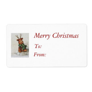 Christmas Reindeer Gift Tags Shipping Label